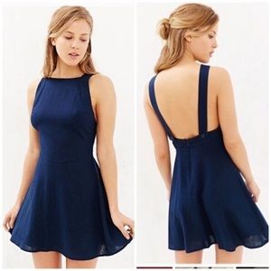 Urban Outfitters| Kimchi Blue Navy Slater Dress